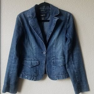 Rue21 One Button Down Jean Jacket Size; S